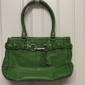 Authentic Coach Green Leather Purse